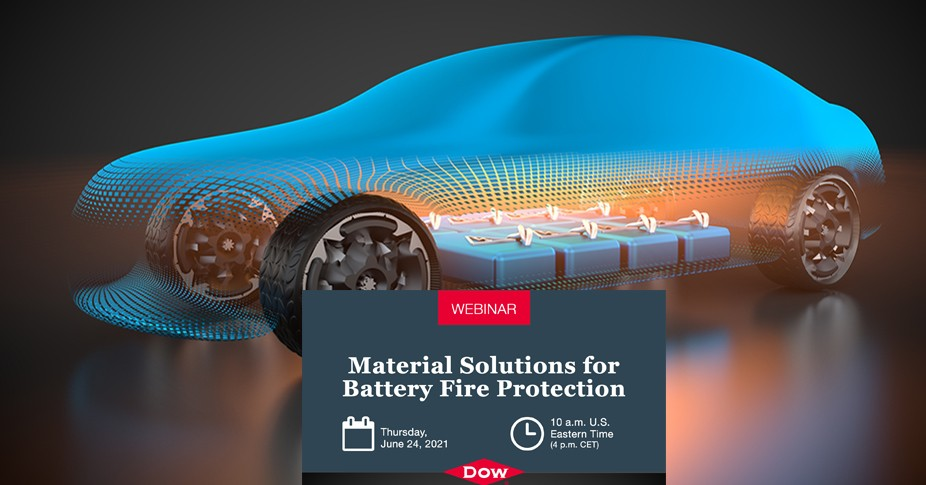 Webinar gratuită - Dow, soluție de silicon pentru protecția împotriva incendiilor la baterii
